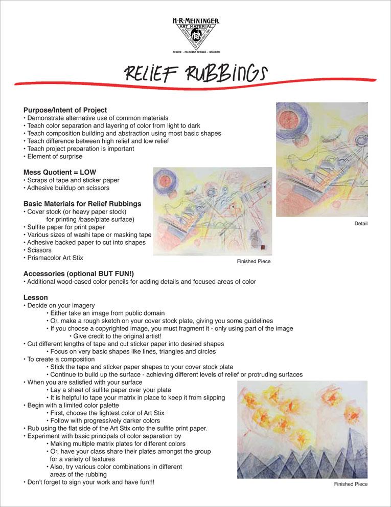 Lesson Plan 15:  Relief Rubbing