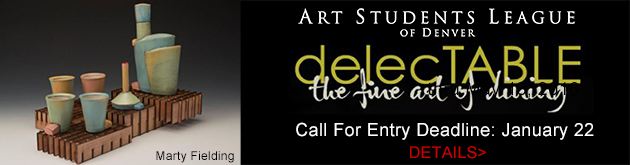 Art Students League of Denver DelecTABLE Call for Entry, deadline January 22, 2018