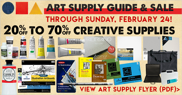 Meininger Art Supply Guide and Sale Going On Now!