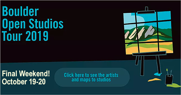 Boulder Open Studio Tour, first three weekends in October