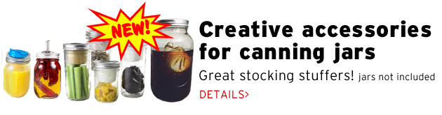 NEW! Creative accessories for canning jars