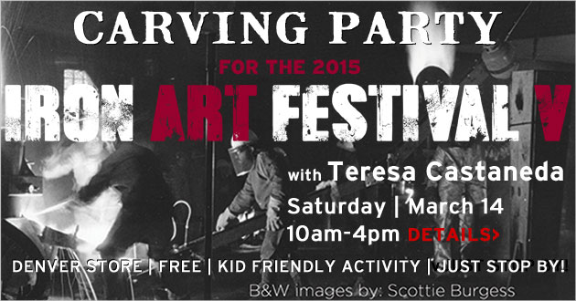 Carving Party with Teresa Castaneda, Saturday, March 14, 10-4