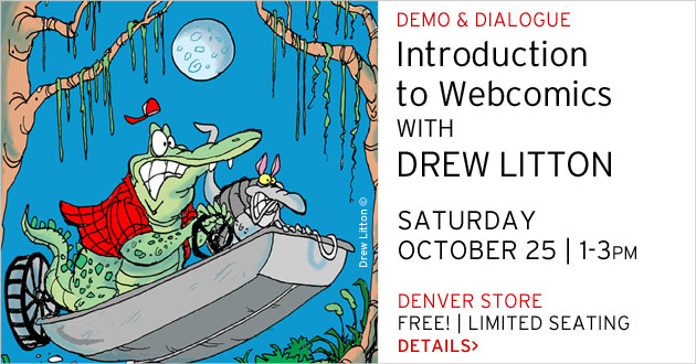 Intro to Webcomics with Drew Litton, October 25, 1-3pm
