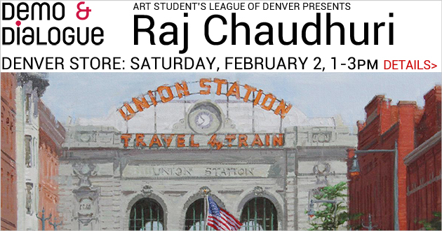 Demo & Dialogue: Oil Painting with Raj Chaudhuri, Saturday, February 2, 1-3pm, FREE, Denver store