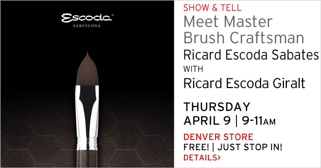 Escoda Brush Show & Tell, Denver store, Thursday, April 9, 9-11am