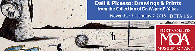 Dali & Picasso: Drawings and Prints, November 3-January 7, Museum of Art, Fort Collins