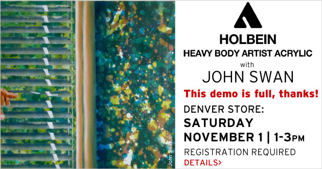 Holbein Acrylic Demo with John Swan, Nov. 1, 1-3pm