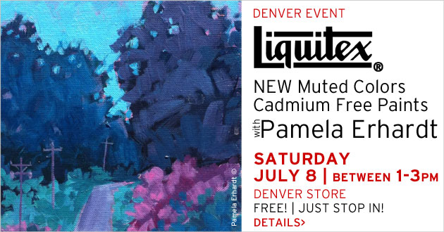 Liquitex Demo with Pam Erhardt, Saturday, July 8, between 1-3pm, Just Stop In to the Denver Store