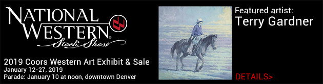 Coors Western Art Exhibit & Sale at the National Western Stock Show, January 12-27, Denver Coliseum, 4655 Humboldt Street