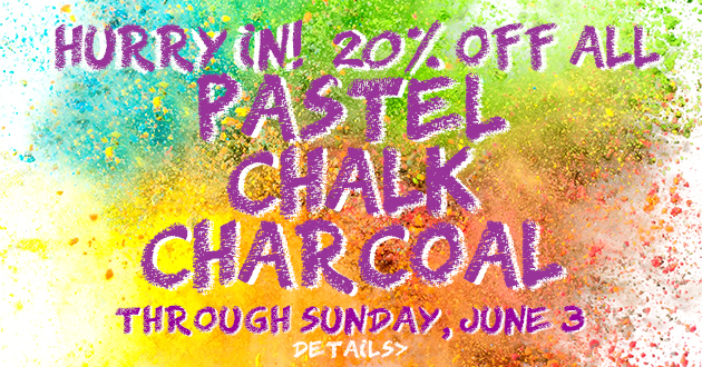 Pastel-Chalk-Charcoal 20% OFF Sale, Friday, May 25 thru Sunday, June 3