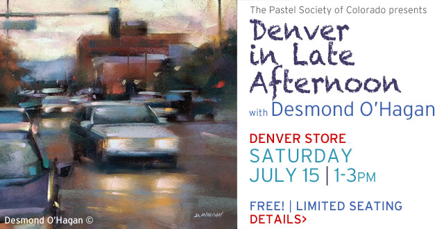 Pastel Demo with Desmond O'Hagan, Saturday, July 15, 1-3pm, Denver Store Only