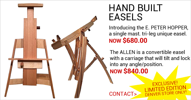 EXCLUSIVE Limited Edition Hand-made Easels, Denver Store Only