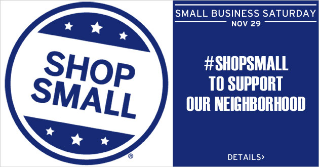 Shop Small, Saturday, November 29