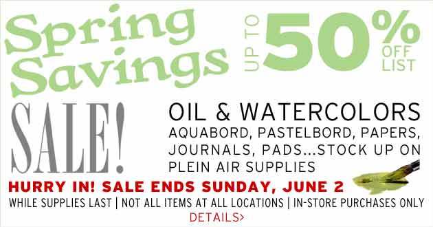 Spring Savings Sale through June 2