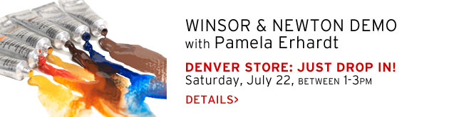 Winsor & Newton Watercolor + Paper Demo with Pam Erhardt, Saturday, July 22, between 1-3pm