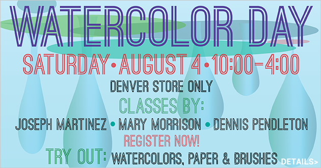 Watercolor Day, Saturday, August 4, 10am-4pm, more details coming soon!
