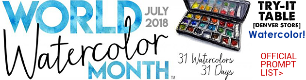 July is Watercolor Month, try these daily inspirations